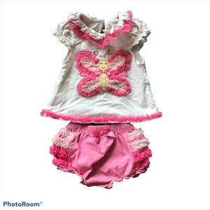 Nannette Baby ruffle butterfly outfit